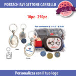 portachiavi gettone carrello 25 mm