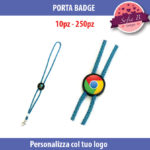 porta badge personalizzabile diametro 25mm