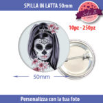 spilla 50mm personalizzabile in latta